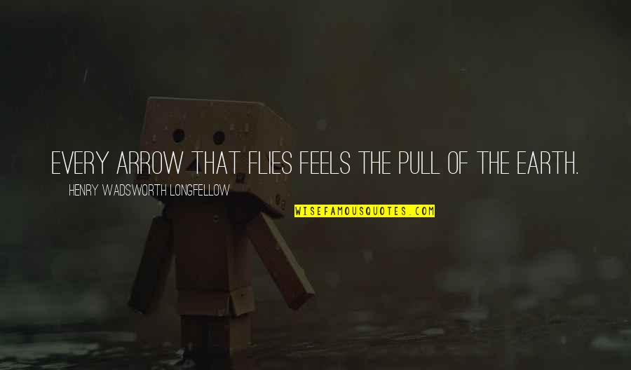 Arrow Quotes By Henry Wadsworth Longfellow: Every arrow that flies feels the pull of