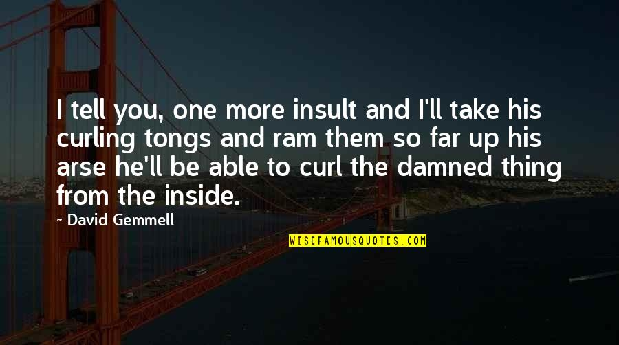 Arse Quotes By David Gemmell: I tell you, one more insult and I'll