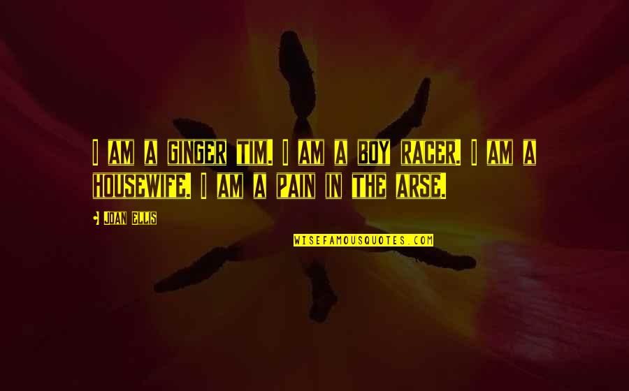 Arse Quotes By Joan Ellis: I am a ginger tim. I am a