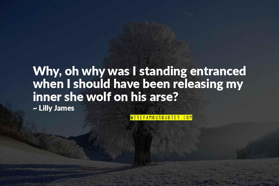 Arse Quotes By Lilly James: Why, oh why was I standing entranced when