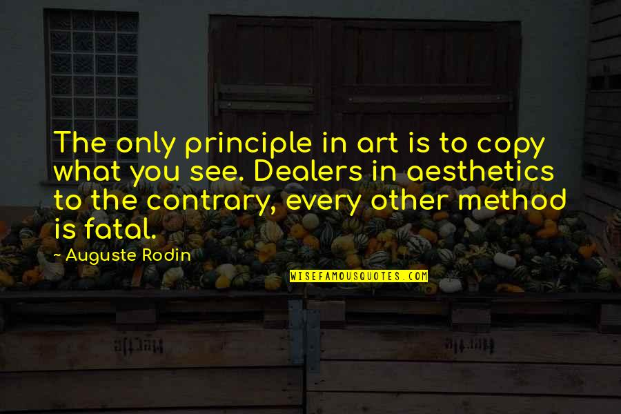 Art And Copy Quotes By Auguste Rodin: The only principle in art is to copy