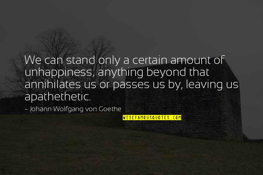 Art History Quotes By Johann Wolfgang Von Goethe: We can stand only a certain amount of