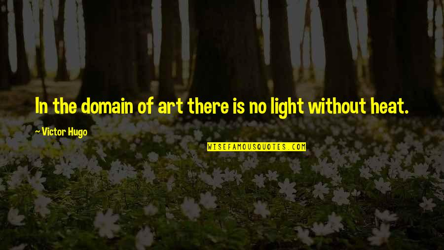 Art In Quotes By Victor Hugo: In the domain of art there is no