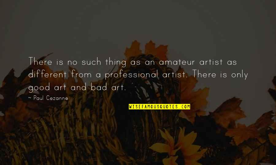 Art Is Bad Quotes By Paul Cezanne: There is no such thing as an amateur
