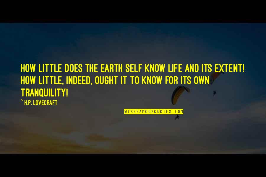 Art Is Therapy Quotes By H.P. Lovecraft: How little does the earth self know life
