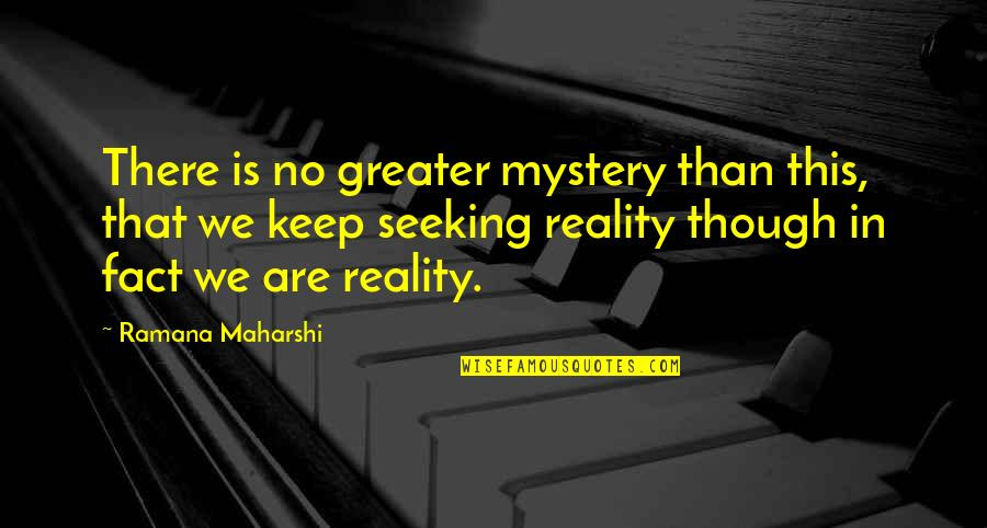 Arthur Hugh Clough Quotes By Ramana Maharshi: There is no greater mystery than this, that