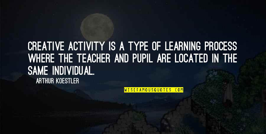 Arthur Koestler Quotes By Arthur Koestler: Creative activity is a type of learning process