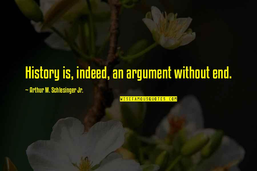 Arthur Schlesinger Quotes By Arthur M. Schlesinger Jr.: History is, indeed, an argument without end.