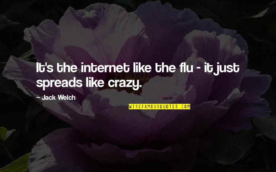 Asahi Quotes By Jack Welch: It's the internet like the flu - it