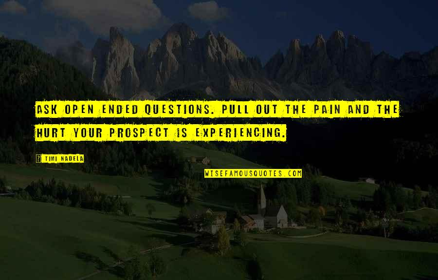 Ask For Business Quotes By Timi Nadela: Ask open ended questions. Pull out the pain