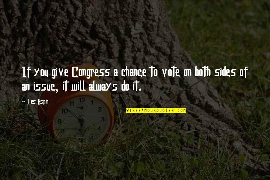 Aspin Quotes By Les Aspin: If you give Congress a chance to vote