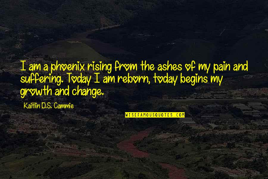 Aspire Higher Motivational Quotes By Kaitlin D.S. Cammie: I am a phoenix rising from the ashes