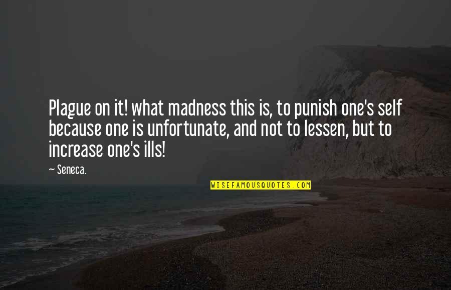 Assimilated Quotes By Seneca.: Plague on it! what madness this is, to