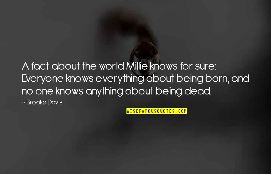 Assisi Norman Maccaig Quotes By Brooke Davis: A fact about the world Millie knows for