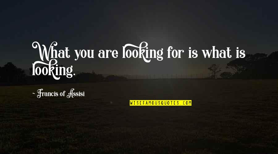 Assisi's Quotes By Francis Of Assisi: What you are looking for is what is