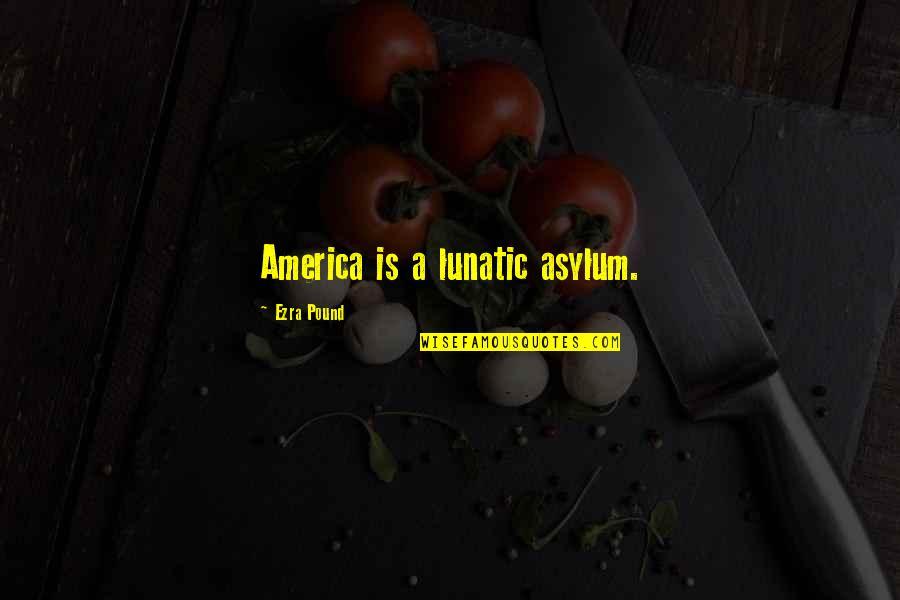 Asylums Quotes By Ezra Pound: America is a lunatic asylum.