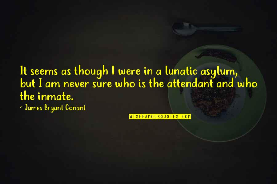 Asylums Quotes By James Bryant Conant: It seems as though I were in a