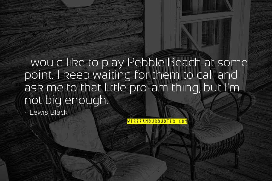 At Some Point Quotes By Lewis Black: I would like to play Pebble Beach at