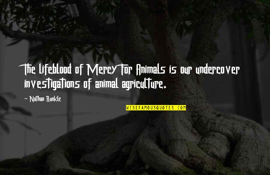 Athletes Losing Quotes By Nathan Runkle: The lifeblood of Mercy For Animals is our