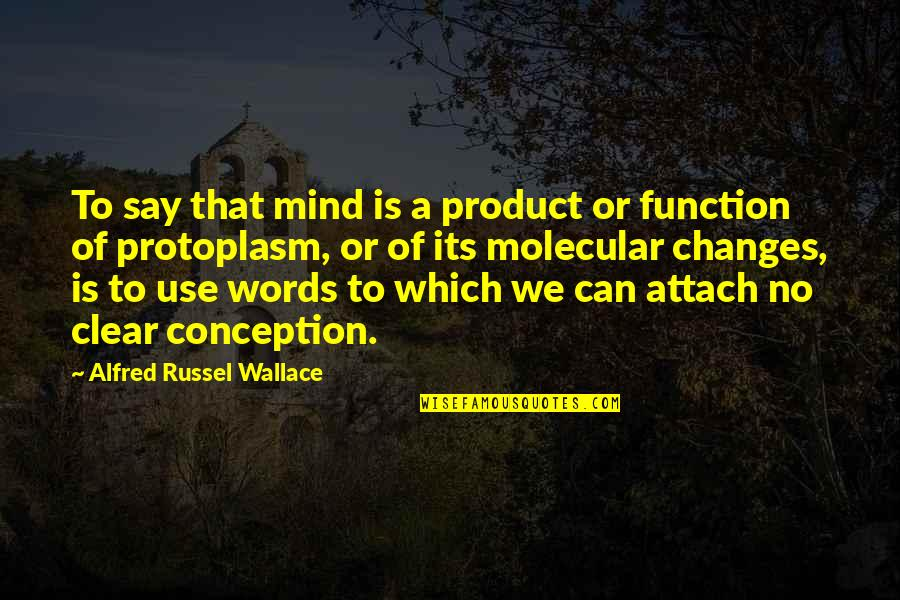 Attach Quotes By Alfred Russel Wallace: To say that mind is a product or