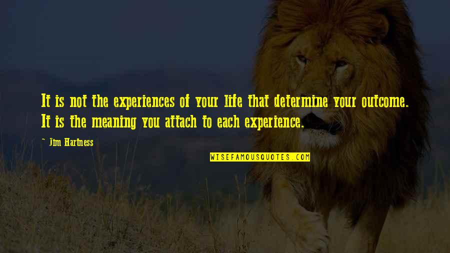 Attach Quotes By Jim Hartness: It is not the experiences of your life