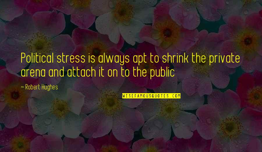 Attach Quotes By Robert Hughes: Political stress is always apt to shrink the