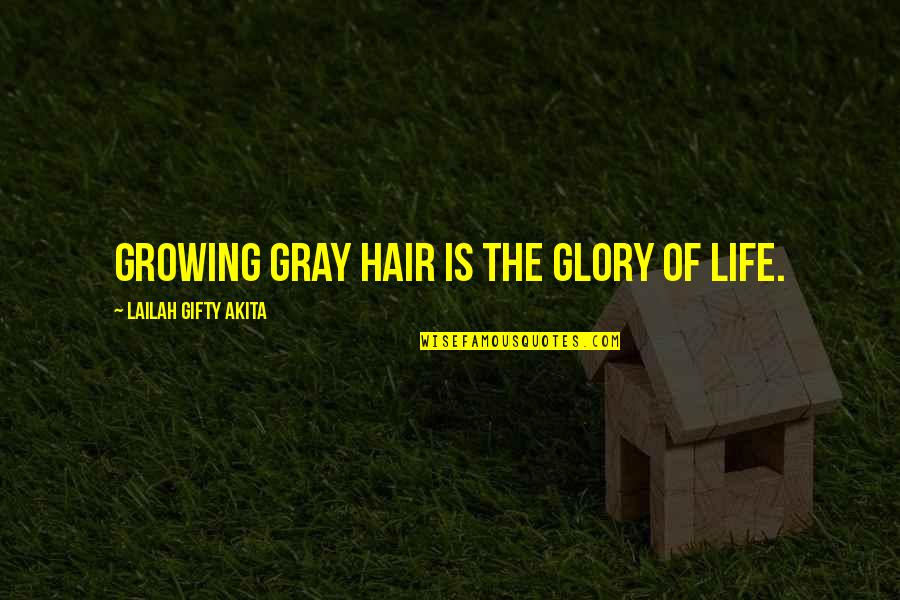 Attitude Doesn't Matter Quotes By Lailah Gifty Akita: Growing gray hair is the glory of life.