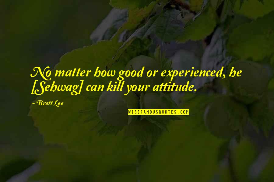 Attitude Is Not Good Quotes By Brett Lee: No matter how good or experienced, he [Sehwag]