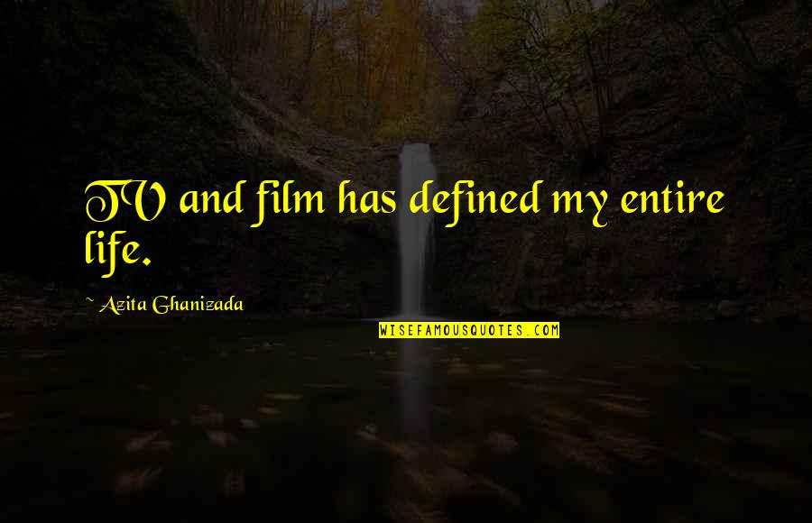 Augusta Stowe-gullen Quotes By Azita Ghanizada: TV and film has defined my entire life.