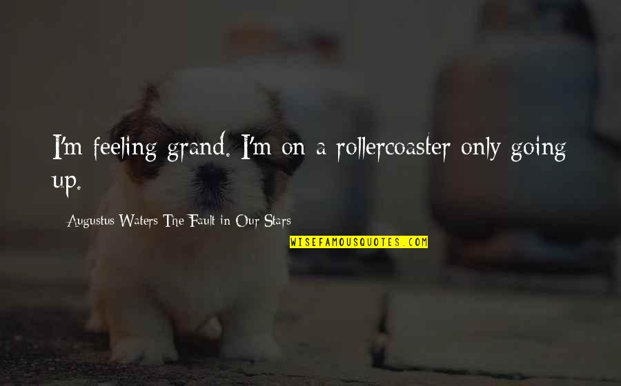 Augustus Quotes By Augustus Waters The Fault In Our Stars: I'm feeling grand. I'm on a rollercoaster only