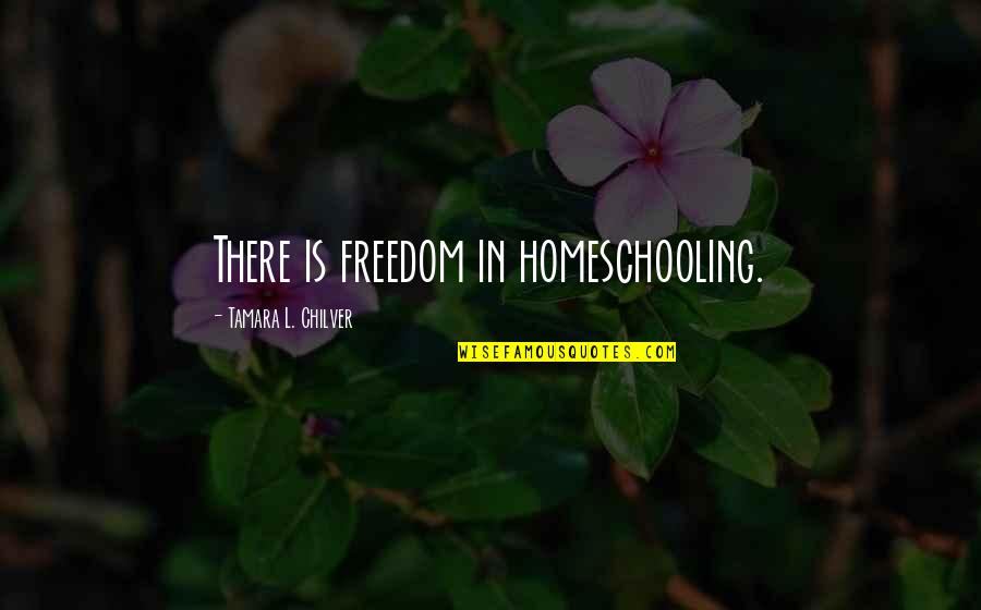 Aulus Cornelius Celsus Quotes By Tamara L. Chilver: There is freedom in homeschooling.