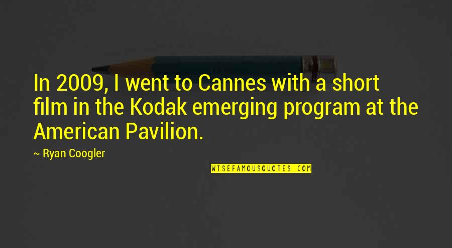 Australian Digger Quotes By Ryan Coogler: In 2009, I went to Cannes with a