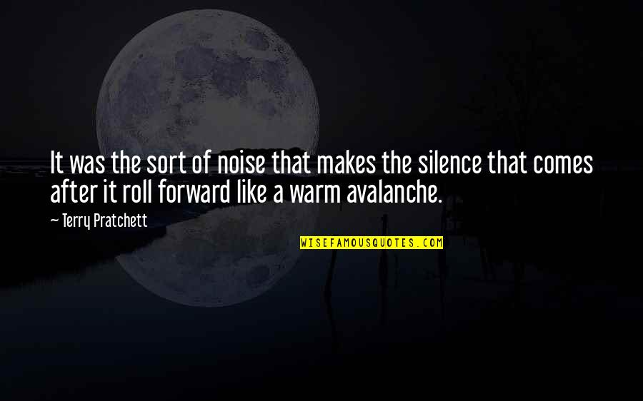Avalanche Quotes By Terry Pratchett: It was the sort of noise that makes