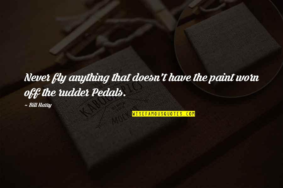 Aviation's Quotes By Bill Harry: Never fly anything that doesn't have the paint