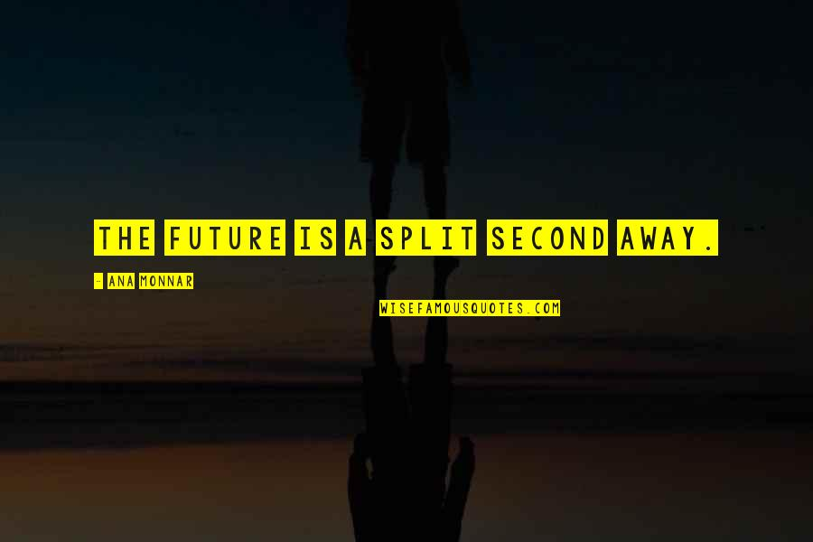 Awake Too Early Quotes By Ana Monnar: The future is a split second away.