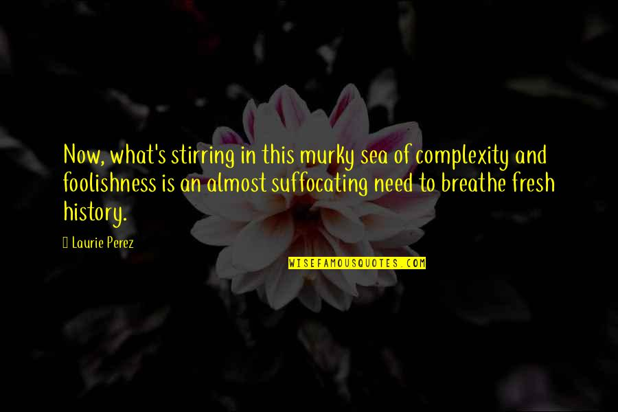 Awakening Enlightenment Quotes By Laurie Perez: Now, what's stirring in this murky sea of