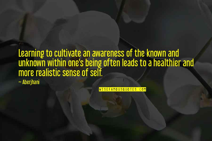 Awareness's Quotes By Aberjhani: Learning to cultivate an awareness of the known