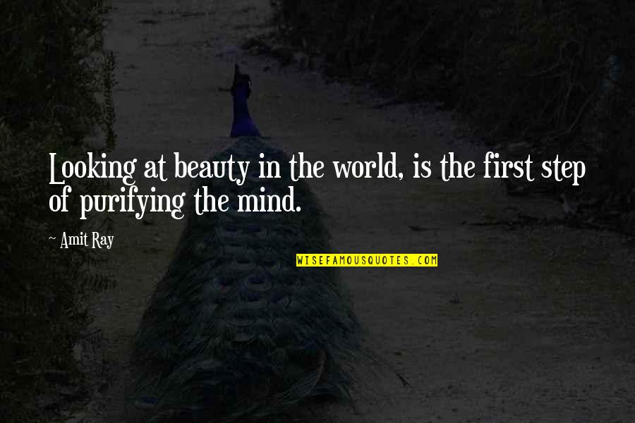 Awareness's Quotes By Amit Ray: Looking at beauty in the world, is the