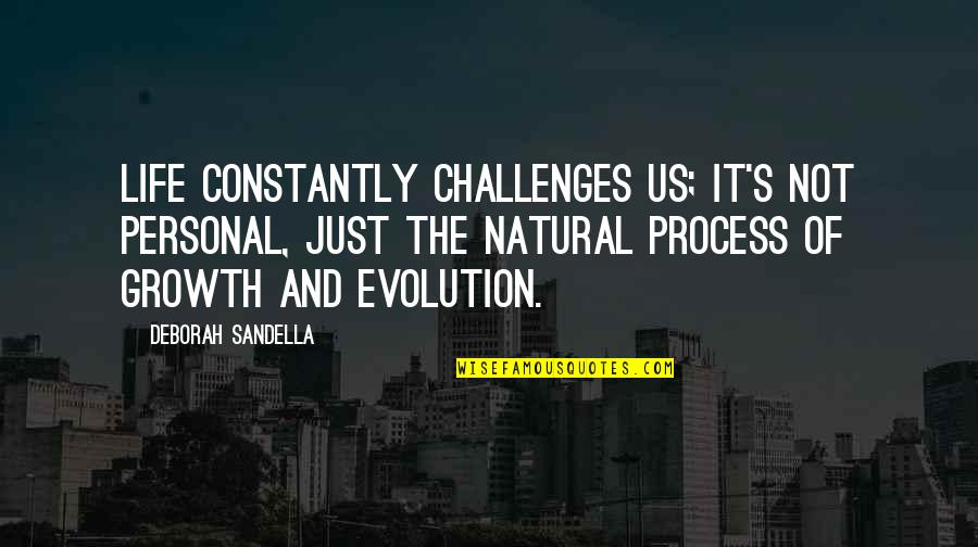 Awareness's Quotes By Deborah Sandella: Life constantly challenges us; it's not personal, just