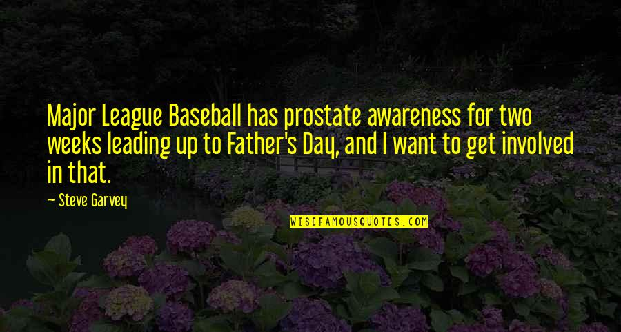 Awareness's Quotes By Steve Garvey: Major League Baseball has prostate awareness for two