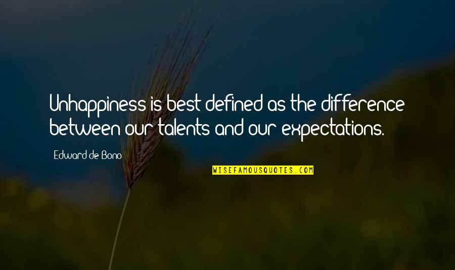 Awk Insert Double Quotes By Edward De Bono: Unhappiness is best defined as the difference between