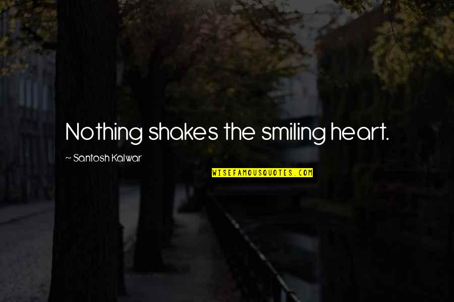 Awk Insert Double Quotes By Santosh Kalwar: Nothing shakes the smiling heart.