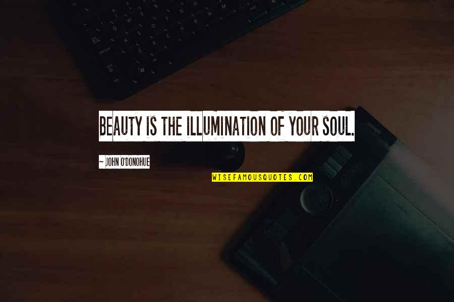 Axl Heck Quotes By John O'Donohue: Beauty is the illumination of your soul.