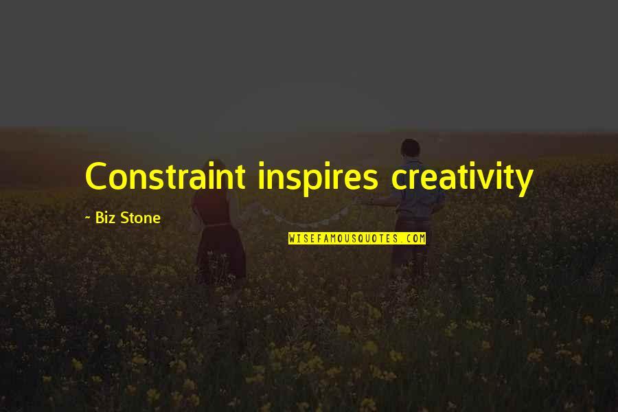 Ayame Sohma Quotes By Biz Stone: Constraint inspires creativity