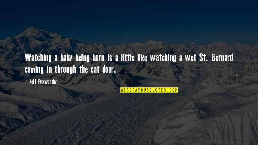 Baby Born Quotes By Jeff Foxworthy: Watching a baby being born is a little