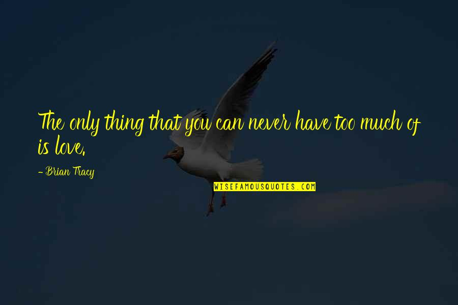 Baby Bowser Quotes By Brian Tracy: The only thing that you can never have