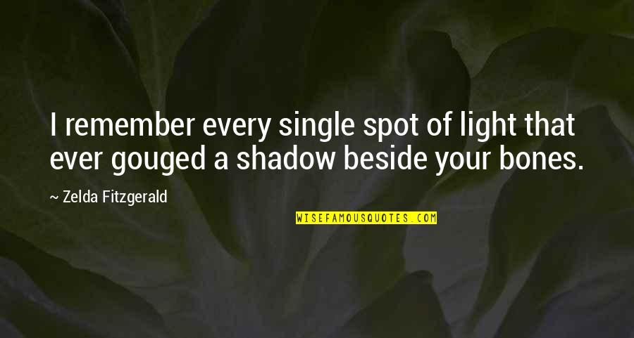 Baby Bowser Quotes By Zelda Fitzgerald: I remember every single spot of light that