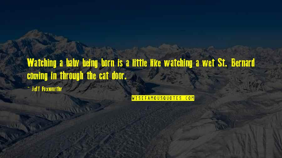 Baby Coming Quotes By Jeff Foxworthy: Watching a baby being born is a little