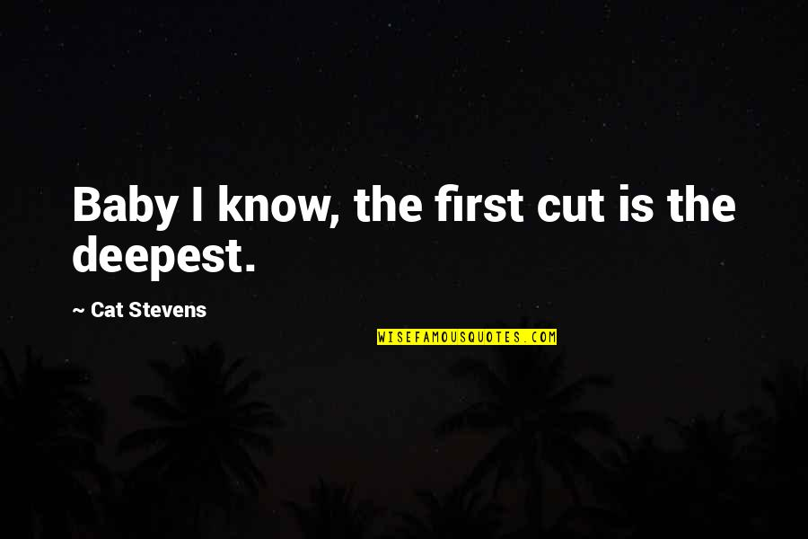 Baby First Quotes By Cat Stevens: Baby I know, the first cut is the