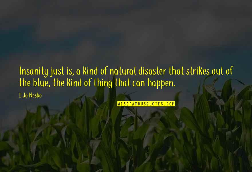 Baby Monthly Birthday Quotes By Jo Nesbo: Insanity just is, a kind of natural disaster